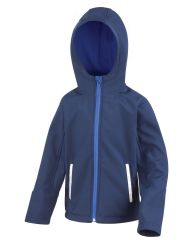HALKIRK PRIMARY SCHOOL NAVY HOODED SOFTSHELL WITH LOGO
